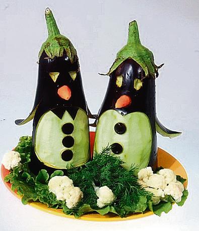 Поделки из овощей своими руками