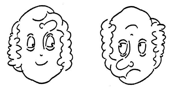 семью картинки с одной стороны одно а перевернешь другое при этом